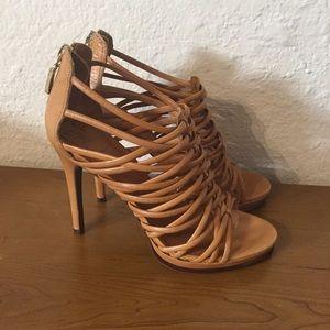 Diane Von Furstenberg strappy platform heels 38